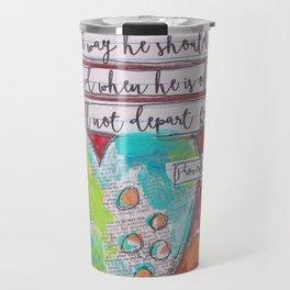 Train up a Child Scripture Art Travel Mug