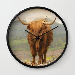 Highland Moo Wall Clock