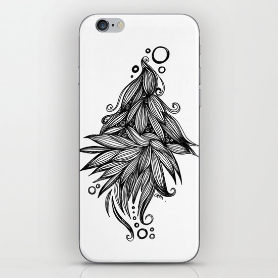 Ornate tangle wave form iPhone & iPod Skin