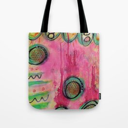 Little Green Fairies greet the Sunrise Tote Bag