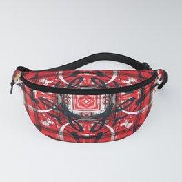 Red Black Decor Design Fanny Pack