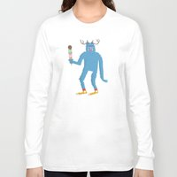 sasquatch Long Sleeve T-shirts featuring sasquatch by Thom BRANSDON Illustration