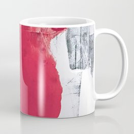 Vast: a bold, minimal abstract piece in pink, gray, and white Coffee Mug