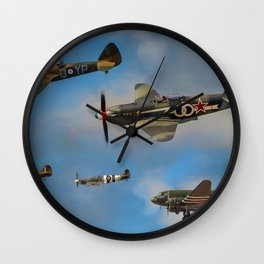 Vintage Aircraft Wall Clock