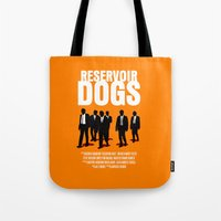 reservoir dogs Tote Bags featuring Reservoir Dogs Movie Poster by FunnyFaceArt