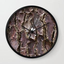 Pine tree bark Wall Clock