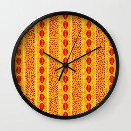 Afro Tie Dye Batik Pattern 6 Wall Clock