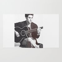 darren criss Area & Throw Rugs featuring Darren Criss by kltj11
