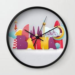 Barcelona ilustrada Wall Clock
