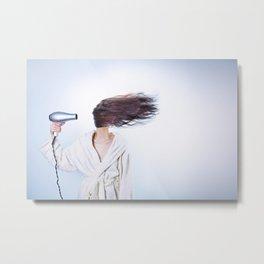 hair comic wind 4 Metal Print