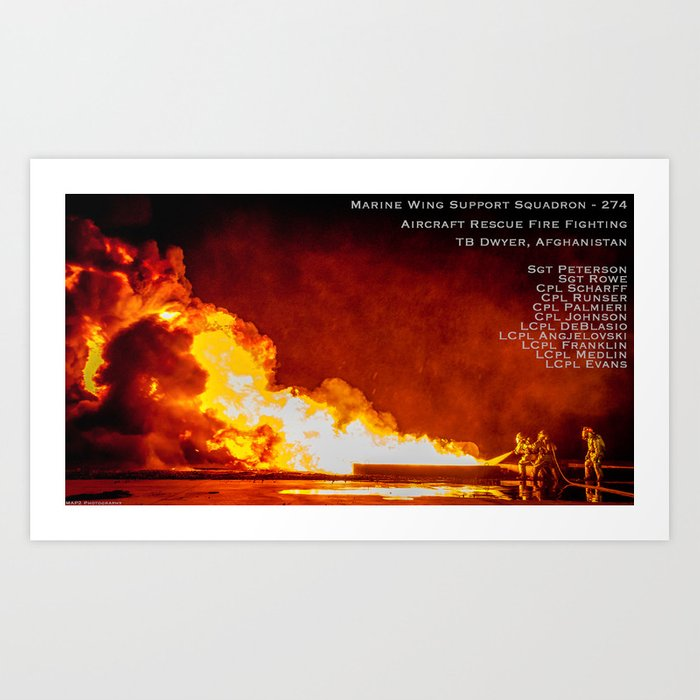 Fuel Fire - with Names Art Print by map2photography