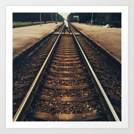 Crossing the Railway  Art Print