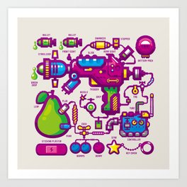JUICY Art Print
