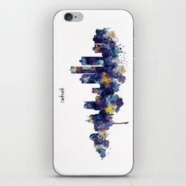 Detroit Skyline Silhouette iPhone Skin