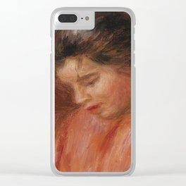 Girl Darning Clear iPhone Case