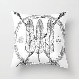 Ouroboros Logos Throw Pillow