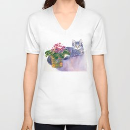 Table for Two Unisex V-Neck