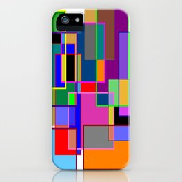 Colour collage white iPhone Case