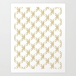 Double Helix - Gold #741 Art Print