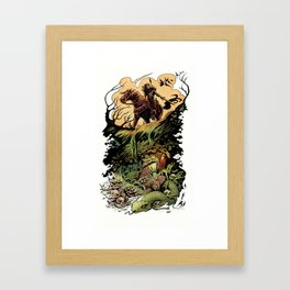 The Cave Witch Framed Art Print