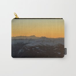 Glow behind the Alps Carry-All Pouch