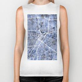 Houston Texas City Street Map Biker Tank