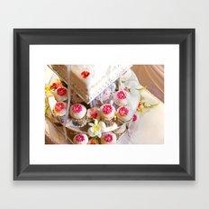 Wedding Cup Cake  Framed Art Print