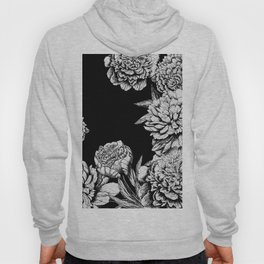 FLOWERS IN BLACK AND WHITE Hoody