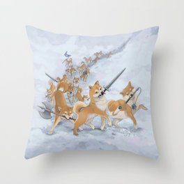 Cry Heckin' and Let Slip the Doges of War Throw Pillow