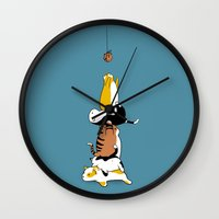 cookie Wall Clocks featuring Cookie by Justyna Dorsz