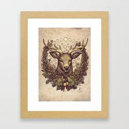 Cernunnos Stag Framed Art Print