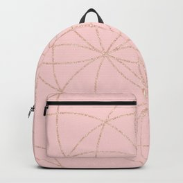 pink rose gold mandala pattern Backpack