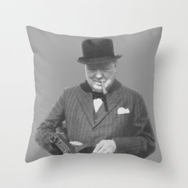 Sir Winston Churchill Throw Pillow