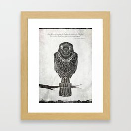 Listen To The Owl Framed Art Print
