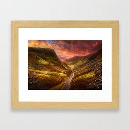Honister Sundown Framed Art Print