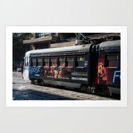 Milano Footloose Tram Art Print