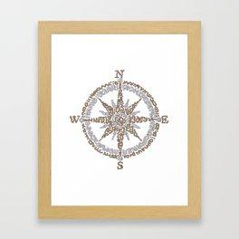 Boussole Framed Art Print