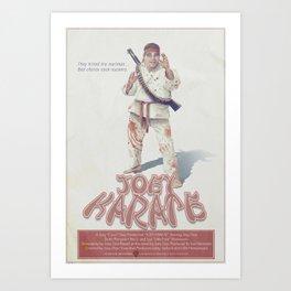 Joey Karate Art Print