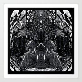 3:33 - Bicameral Brain  Art Print