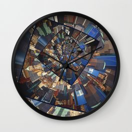 Spinning City Walls Wall Clock