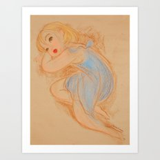 Matisse in Blue Art Print