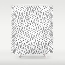 Black and White Circuit Shower Curtain