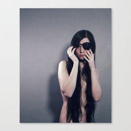 Future Pirate Queen - Self Portrait - long hair eye patch sensual Canvas Print