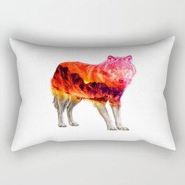 Express Wolf Rectangular Pillow