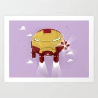 Chubby Iron Man Art Print