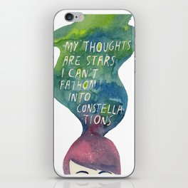 Thoughts Are Constellations iPhone Skin