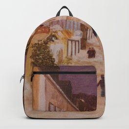 Street under the snow Backpack