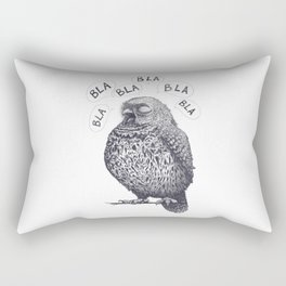 Owl bla bla bla Rectangular Pillow