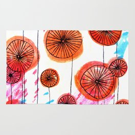 Retro spring flowers Rug