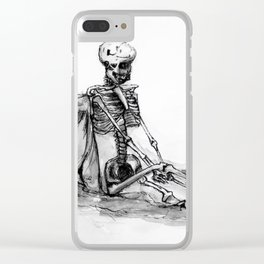The Wine Just Goes Right Through Me Clear iPhone Case